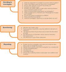 investigation report template disciplinary hearing ncas investigations
