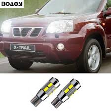 trail of lights parking boaoasi 2x t10 led parking lights sidelight no error for nissan