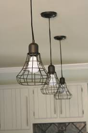 Pendant Lighting For Kitchen Island by Lovely Triple Hanging Kitchen Lighting Over Large Kitchen Island