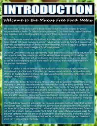 mucus free food detox paperback guide alkaline eclectic digital