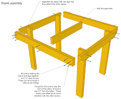 Free Wood Patio Table Plans by Patio Table Plans
