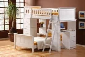 Bunk Bed With Desk And Drawers Foter - White bunk bed with desk