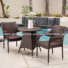 Outdoor Rattan Garden Furniture by China Rattan Garden Furniture 3 Pieces Outdoor Wicker Pa From Anji