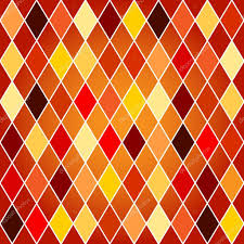 seamless harlequin pattern orange and red tones u2014 stock vector