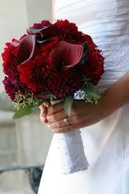 Dark Red Flower - pretty dark red bouquet tags