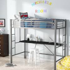 Loft Bed With Desk On Top Viv Rae Myrtle Twin Loft Bed With Desk U0026 Reviews Wayfair