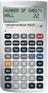 Suspended Ceiling Quantity Calculator by Calculated Industries 4067 Construction Master Plus Ez