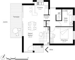plan maison en bois avec mezzanine u2013 ooreka