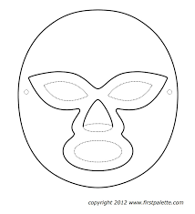 mask template mexican masks