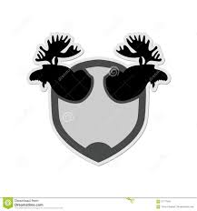 logo moose head on a shield emblem for hunting club vector il