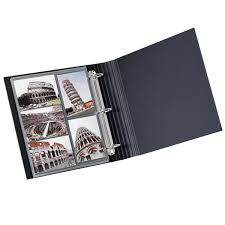 photo album 3 ring binder bigso navy stockholm 1 three ring binder the container store