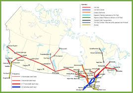 Map Of Edmonton Canada by Railway Map Of Canada
