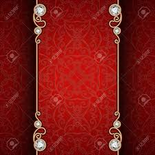 vintage gold frame with jewelry borders on ornamental