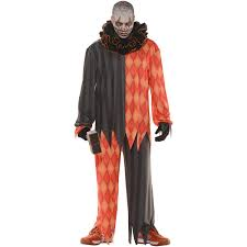 ladies clown halloween costumes evil clown no mask men u0027s halloween costume walmart com