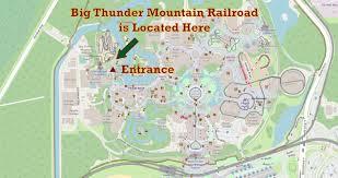 Disney World Hotel Map Big Thunder Mountain Railroad Map Location Walt Disney World Navfile