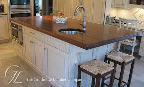 Wood Tops For Kitchen Islands Large Walnut Wood Countertop Kitchen Island In New Jersey