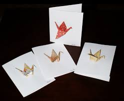 origami by decorativefolds new origami crane cards by decorativefolds