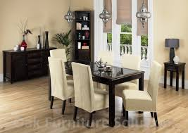 Jafar  Seater Dining Table   Cream Dining Chairs - Cream kitchen table