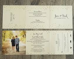 wedding ceremony phlet tri fold wedding invitations diy wedding invitation ideas