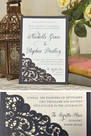 laser lace wedding invitation use this laser cut lace slide in