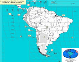 south america map south and central america map quiz america physical features