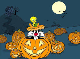 my free wallpapers cartoons wallpaper tweety halloween