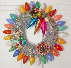 vintage christmas lights the wreath by georgiapeachez vintage christmas lights
