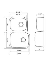 Double Sink Kitchen Size by Www Iptsink Com M 108rv 18 Gauge Double Bowl Undermount