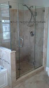 Hinged Glass Shower Door Frameless Glass Bath And Shower Enclosures Annapolis Maryland