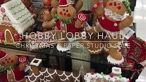 hobby lobby christmas u0026 paper studio haul youtube