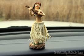 3 hula dashboard skirt doll hawaii car aloha