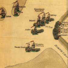Charleston Sc Map Charleston Sc Battle Of Fort Sullivan Fort Moultrie 1776 Map
