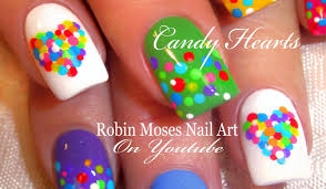robin moses nail art easy valentine nails cute rainbow candy