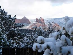 breathtaking in winter sedona has snow between one and five times