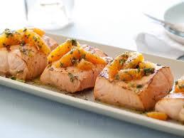 grilled salmon with citrus salsa verde recipe giada de