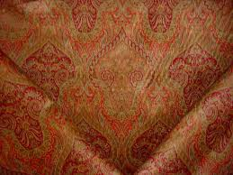 3 yards kravet lee jofa damar paisley velvet in pink raspberry