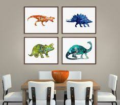 DINOSAUR Wall Art Dinosaur Decor Baby Boy Nursery Wall Art Dino - Kids dinosaur room