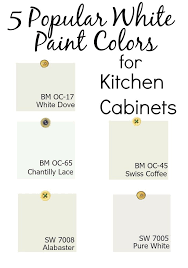 white paint colors for kitchen cabinets white paint colors