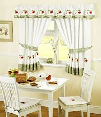 Red Kitchen Curtain by Amazon Com Apples And Pears Green Red Gingham Kitchen Curtains