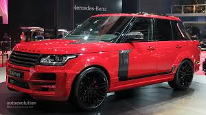 range rover 2015 shanghai 2015 startech range rover pickup is red and covered