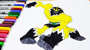 coloring pages ben 10 shocksquatch ben 10 omniverse coloring
