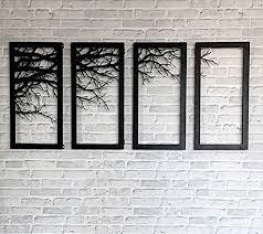 Branch Decor Tree Branch Framed Wall Accessory Decor Laser Cutting Metal