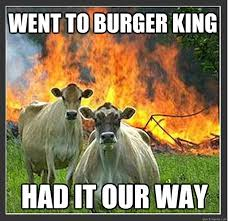 Burger Memes - went to burger king had it our way evil cows quickmeme