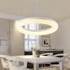 Lights Kitchen Simple Circle Shaped Warm White Led Pendant Lights Kitchen
