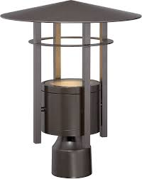 exterior post light fixtures designers fountain led34036 bnb englewood modern burnished bronze