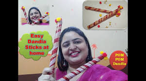 navratri special how to make dandia sticks at home without sticks