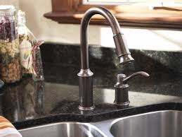 moen bronze kitchen faucets moen aberdeen oil rubbed bronze one handle high arc pulldown moen
