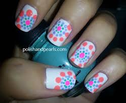 polka dot nail designs tutorial on how to achieve this easy
