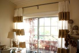 Double Curtain Rod Interior Design by Interior Design Gorgeous Brown Horizontal Striped Curtains In