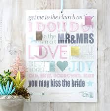 personalised wedding countdown calendar by modo creative